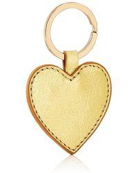 Barneys New York Leather Heart Key Chain