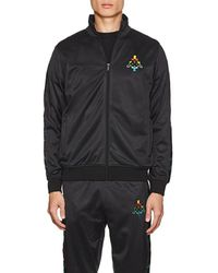 Marcelo Burlon - Logo-embroidered Tech-jersey Track Jacket - Lyst