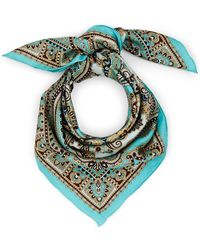 Barneys New York - Paisley Silk Scarf - Lyst