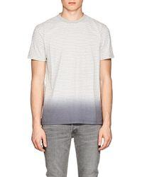 Barneys New York - Striped Ombré Cotton-blend T - Lyst