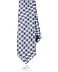 Paolo Albizzati - Honeycomb-pattern Silk Twill Necktie - Lyst