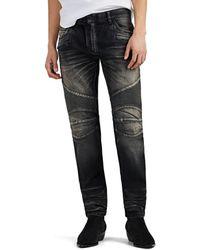 Balmain Skinny Biker Jeans - Black