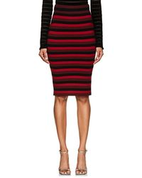 Ronny Kobo - Ivy Striped Merino Wool Skirt - Lyst