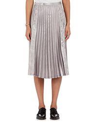 Noir Kei Ninomiya - Pleated Lamé Layered Skirt - Lyst