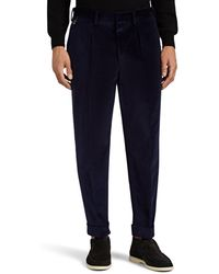 PT01 - Embroidered Velvet Trousers Size 36 - Lyst