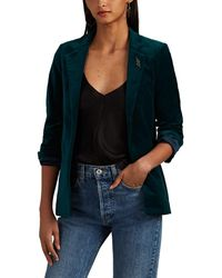 Zadig & Voltaire Volly Cotton Velour Blazer - Green