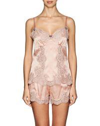Dolce & Gabbana Lace-trimmed Silk-blend Camisole - Pink