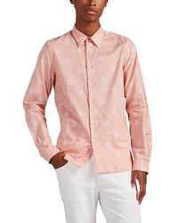PS by Paul Smith Sun-motif Cotton Shirt - Pink