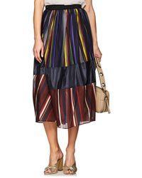Kolor - Striped Wrap Maxi Skirt - Lyst