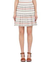 Chloé - Striped Linen-cotton Gauze Miniskirt - Lyst