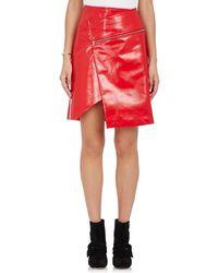 Ji Oh - Faux Leather Asymmetric Skirt - Lyst