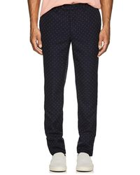Officine Generale - Paul Embroidered Wool Trousers - Lyst