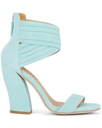 Repetto - Sculpted-heel Suede Sandals - Lyst
