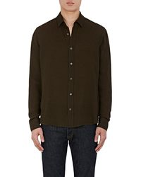 Vince   Twill Button   Lyst