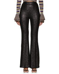 Cynthia Rowley - Sequined Flared Pants - Lyst