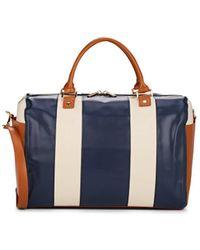Barneys New York Colorblocked Weekender Duffel Bag - Blue