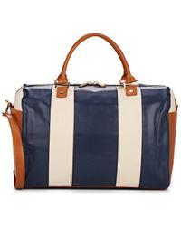 Barneys New York Colorblocked Weekender Duffle Bag - Blue