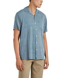 Onia - Vacation Striped Cotton-blend Camp-collar Shirt - Lyst