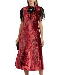 Erdem - Pembroke Embellished Velvet Dress - Lyst