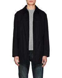 Barneys New York Cotton Trench Coat - Black