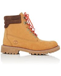 Timberland Bny Sole Series: Nubuck Lace-up Boots - Brown