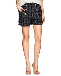 Balmain - Shorts With Fringes - Lyst