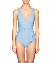 Lisa Marie Fernandez - Yasmine Denim-effect One-piece Swimsuit - Lyst