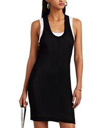 T By Alexander Wang Layered Rib-knit Tank Dress - Black