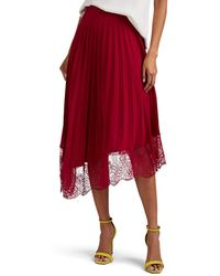 A.L.C. Claude Lace-trimmed Pleated Skirt - Purple