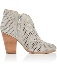 Rag & Bone Margot Suede Ankle Boots - Gray