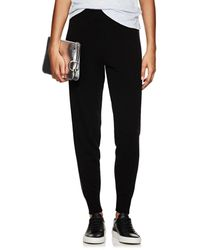 ATM Metallic-knit Wool-blend Pants - Black