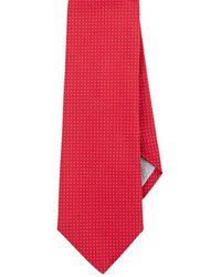 Paolo Albizzati Pin-dot Silk Necktie - Red