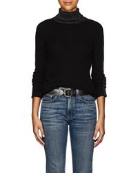 ATM Metallic-knit Cashmere Turtleneck Jumper - Black