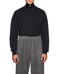 GmbH Berg Logo Cotton Fleece Shrunken Sweatshirt - Blue