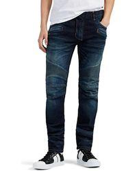 Balmain Skinny Biker Jeans - Blue