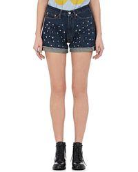 Junya Watanabe - Studded Denim Shorts - Lyst