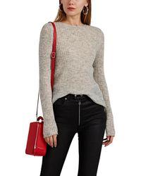 Rag & Bone Donna Ribbed Mohair-blend Sweater - Gray