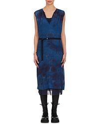 Pas De Calais - Tie-dyed Wool-silk Belted Dress - Lyst