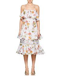 Prabal Gurung - Floral Jacquard Matelassé Tiered Dress - Lyst