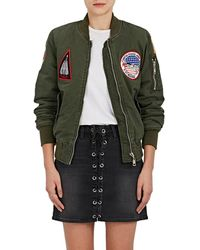 813 Ottotredici Patch Cotton Twill Bomber Jacket - Green
