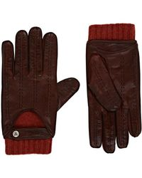 Christophe Fenwick Le Mans Cashmere-lined Leather Driving Gloves - Red
