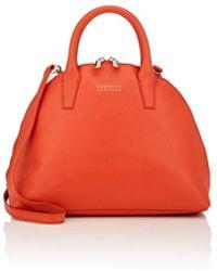 Barneys New York Leather Bowler Bag - Red