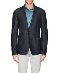 Giorgio Armani - Herringbone Mesh-knit Two-button Sportcoat - Lyst