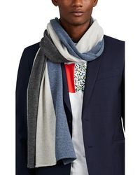 Barneys New York - Tricolor Cashmere Scarf - Lyst
