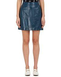 Tomas Maier - Leather Miniskirt - Lyst