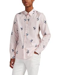 PS by Paul Smith Leaf-print Cotton Shirt - Pink