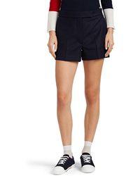 Thom Browne Wool Cuffed Shorts - Blue