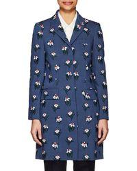 Thom Browne   Floral-Print Wool-Blend Coat   Lyst