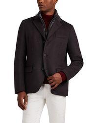 Herno Cashmere Melton Coat - Multicolour