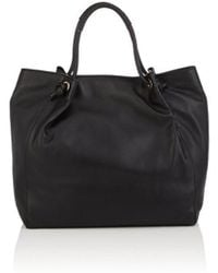 Barneys New York - Knot-handle Leather Tote Bag - Lyst